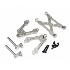Axial SCX10 Aluminum Rear Shock Mount - 1 Set Silver