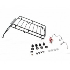 Land Rover D90 Roof Rack Set With 12mm LED Light White