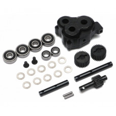 Boom Racing D90/D110 Chassis BRX Anti Torque Twist Transfer Case w/ HD Gears for TRC D110 D90 Defender