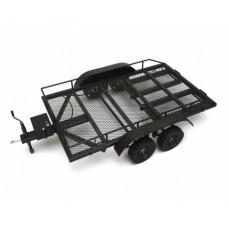 1/10 Scale Aluminum Dual Axle Trailer For Scale Trucks & Crawlers W/ Leaf Spring