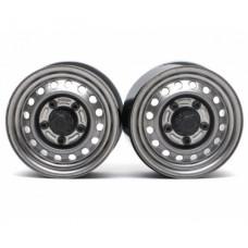 "Boom Racing 1.55"" 16-Hole Classic Steelie Reversible Beadlock Wheels (Передние) с/ XT500 Hubs Gun Metal"