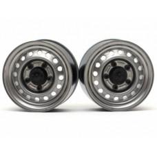 "Boom Racing 1.55"" 16-Hole Classic Steelie Reversible Beadlock Wheels (Задние) с/ XT500 Hubs Gun Metal"