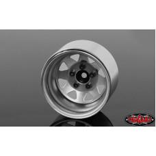 """5 Lug Deep Dish Wagon 1.9"""" Steel Stamped Beadlock Wheels"""