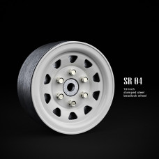 1.9 SR04 beadlock wheels (Белый) (4 шт)