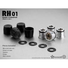 1.9 RH01 wheel hubs (Black) (4)