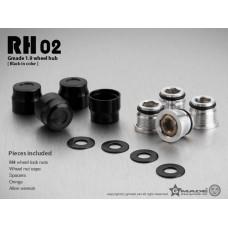 1.9 RH02 wheel hubs (Black) (4)