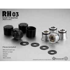 1.9 RH03 wheel hubs (Black) (4)