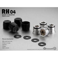 1.9 RH04 wheel hubs (Black) (4)