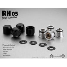 1.9 RH05 wheel hubs (Black) (4)