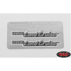 SIDE METAL EMBLEMS FOR RC4WD CRUISER BODY