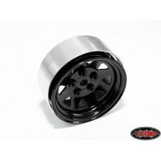 5 Lug Wagon 1.9 Steel Stamped Beadlock Wheels (Black)
