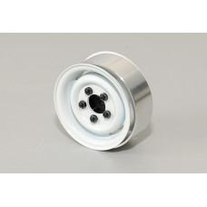 1.55 Landies Vintage Stamped Steel Beadlock Wheels (White)