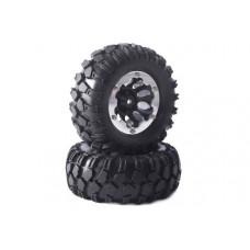 """Колеса в сборе Fastrax Kong 96mm Crawler (диски 1.9"""" с бэдлоками) 4шт -чёрные"""