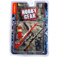 FIRE EXTINGUISHER, RIFLE, AND HIGH JACK SET