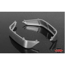 Задние алюминиевые расширители арок для кузова Axial Jeep Rubicon (Silver)*